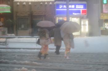 成人式着物雪