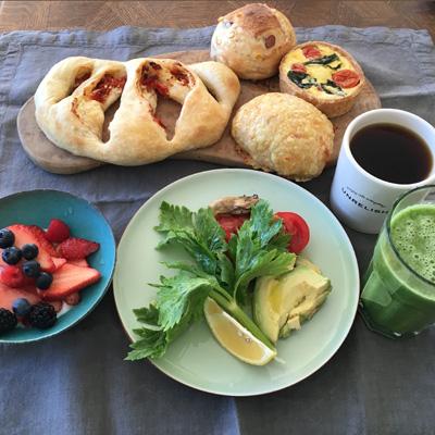 ichiのパンで朝食