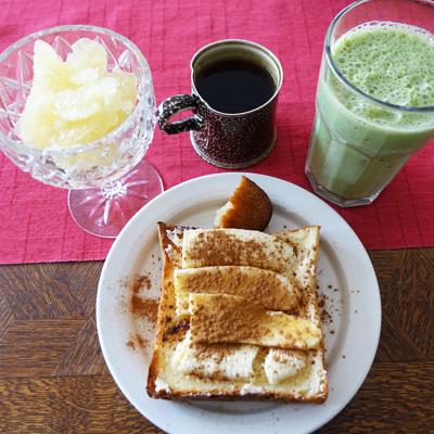 朝ご飯バナナトースト