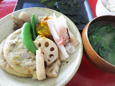玄米夕ご飯