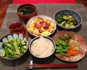 夕ご飯枝豆