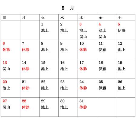 5月医師リスト東京渋谷の美容皮膚科クリニック