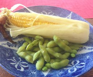 茹でた枝豆