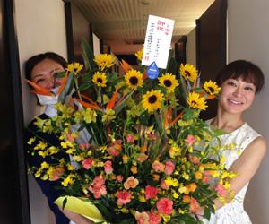 9周年記念の花束