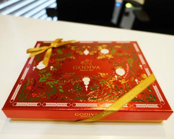 godivaクリスマスチョコレート
