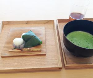 金田中ランチデザート抹茶