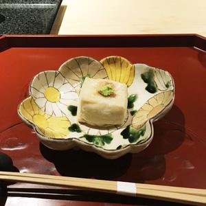 銀座うち山のゴマ豆腐